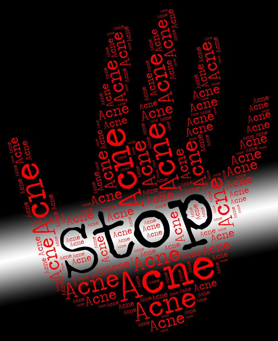 Download Free Stock HD Photo of Stop Acne Represents Warning Sign And Blackheads Online