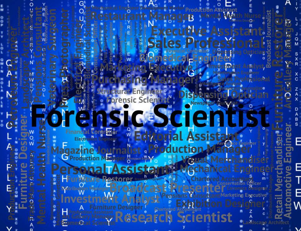 Download Free Stock HD Photo of Forensic Scientist Shows Position Scientists And Word Online