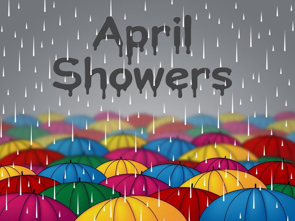 Free Stock Photo of April Showers Represents Parasols