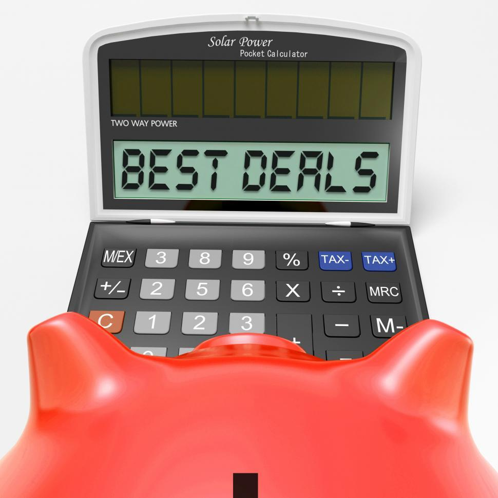 Download Free Stock HD Photo of Best Deals Calculator Means Great Buy And Savings Online