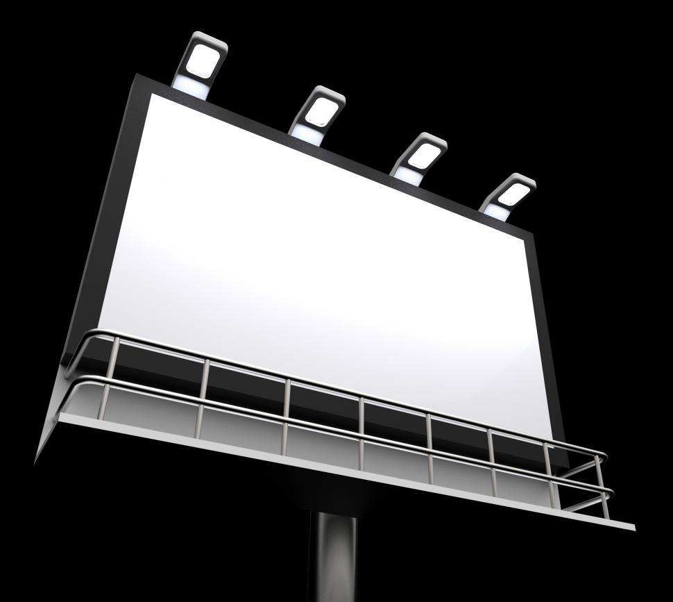 Download Free Stock HD Photo of Blank Billboard Copyspace Shows Advertising Space Online