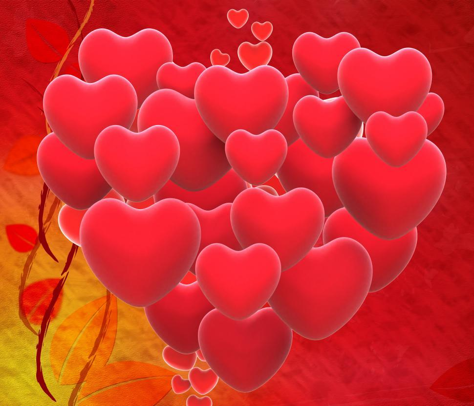 Download Free Stock HD Photo of Heart Made With Hearts Shows Romantic Wedding And Marriage Online