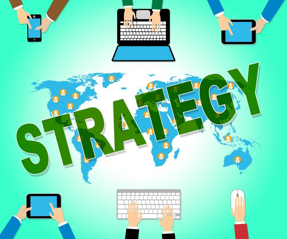 Download Free Stock HD Photo of Business Strategy Shows Tactics Plans And Innovation Online