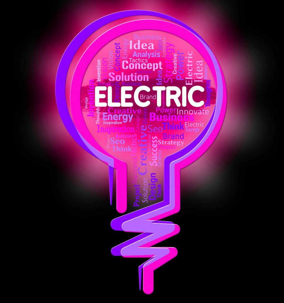 Download Free Stock HD Photo of Electric Lightbulb Represents Power Source And Energy Online