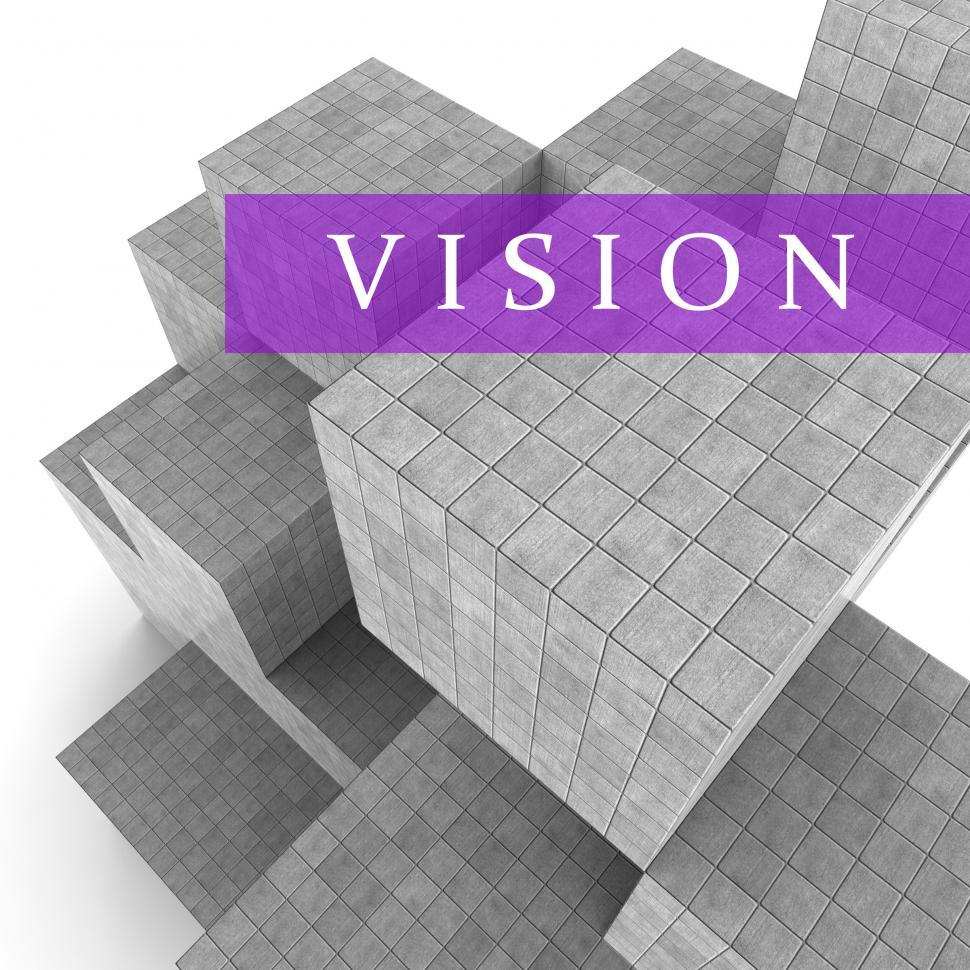 Download Free Stock HD Photo of Vision Blocks Means Commercial Mission 3d Rendering Online