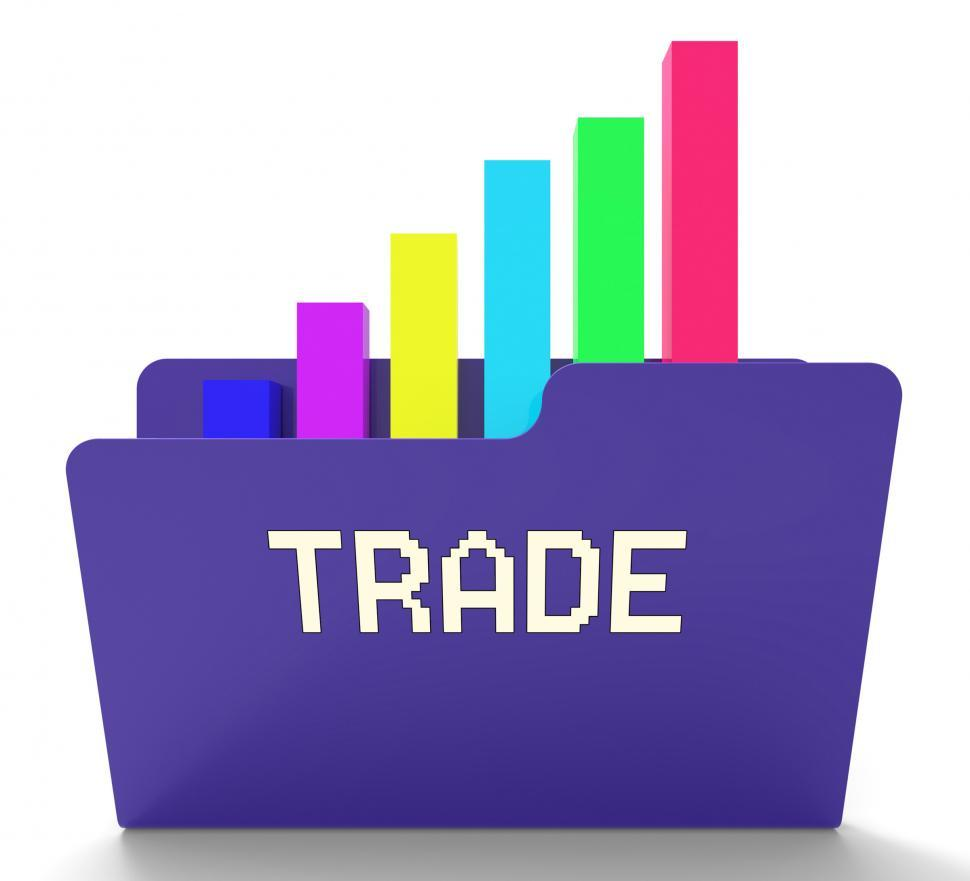 Download Free Stock HD Photo of Trade File Represents Business Graph And Binder 3d Rendering Online