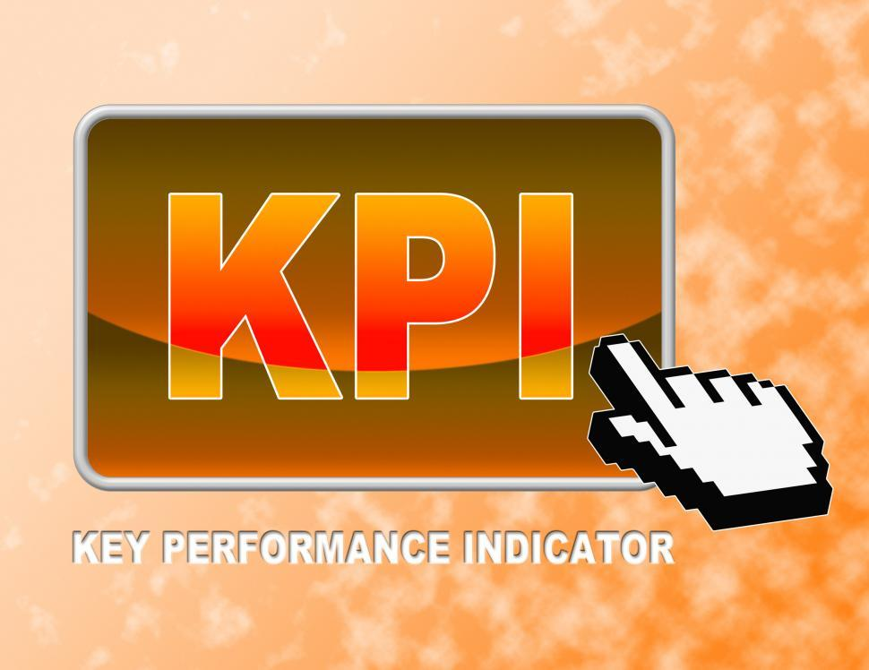 Download Free Stock HD Photo of Kpi Button Indicates Key Performance Indicators And Assessment Online
