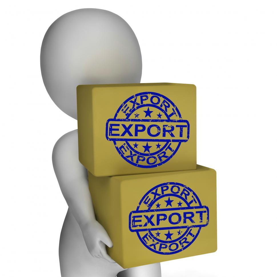 Download Free Stock HD Photo of Export  Boxes Show Exporting Goods And Merchandise Online
