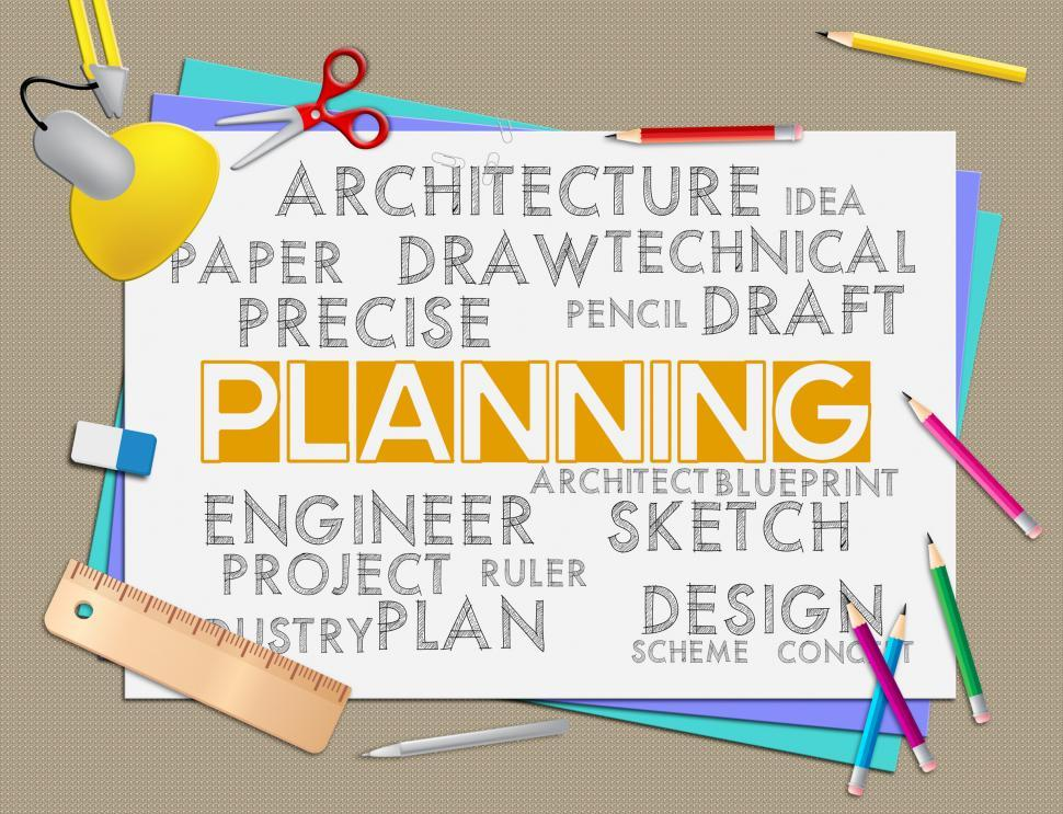 Download Free Stock HD Photo of Planning Words Means Goals Date And Plans Online