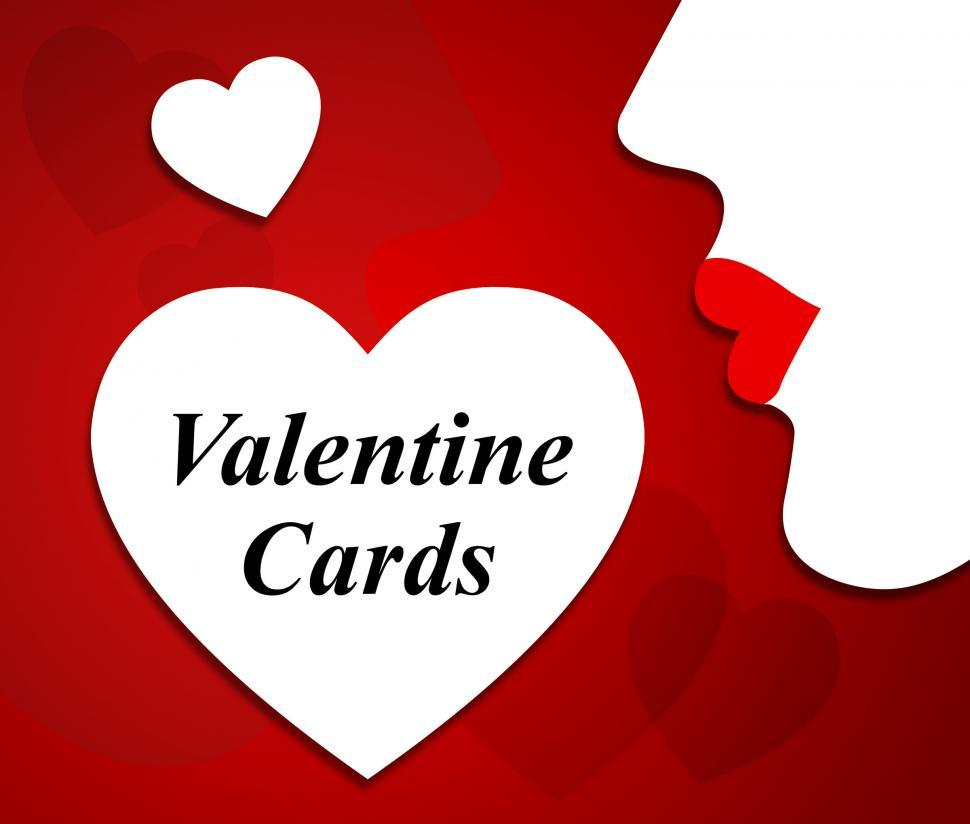 Free Stock Photo of Valentine Cards Means Valentines Day And