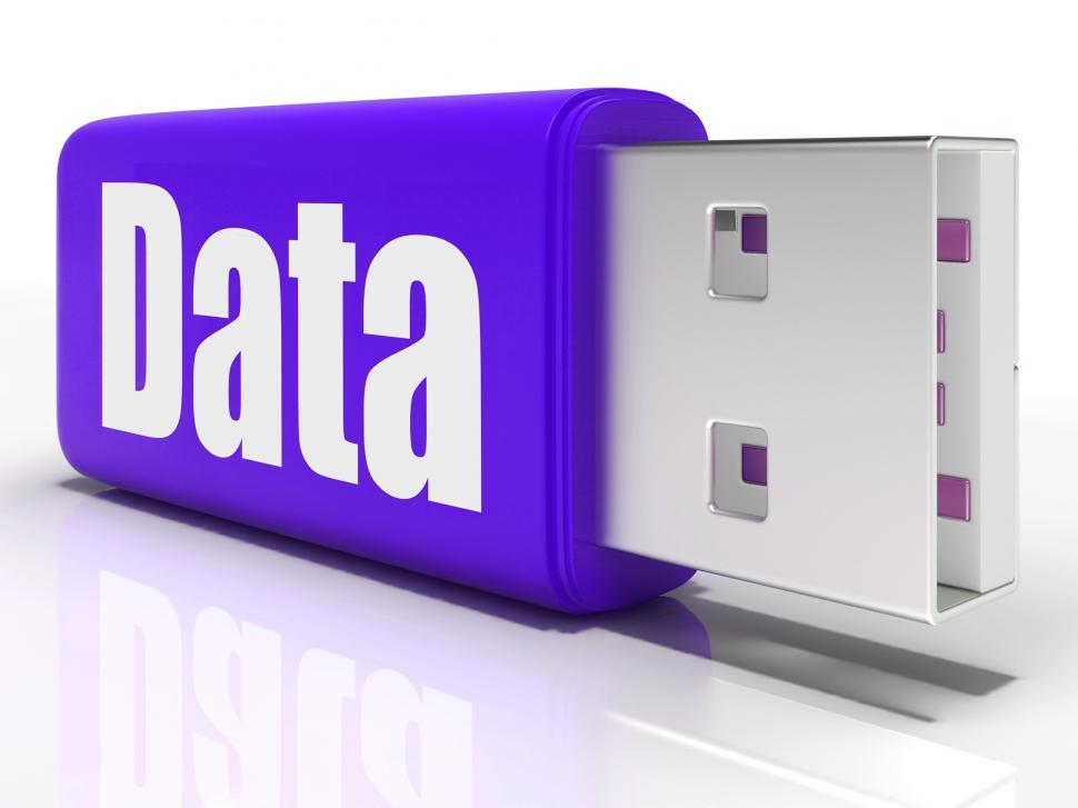 Download Free Stock HD Photo of Data Pen drive Means Database Or Digital Information Online