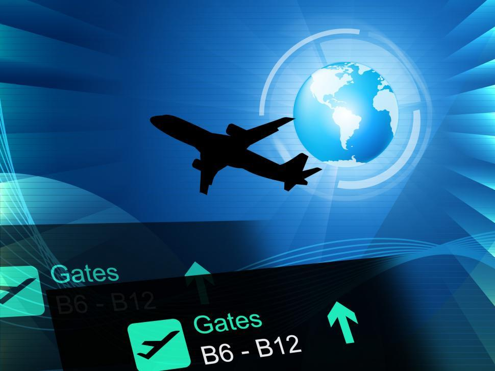 Download Free Stock HD Photo of World Flight Represents Global Journey And Airplane Online