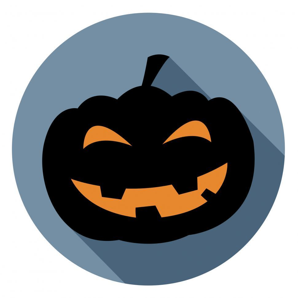 Download Free Stock HD Photo of Halloween Pumpkin Icon Represents Autumn Sign And Spooky Online