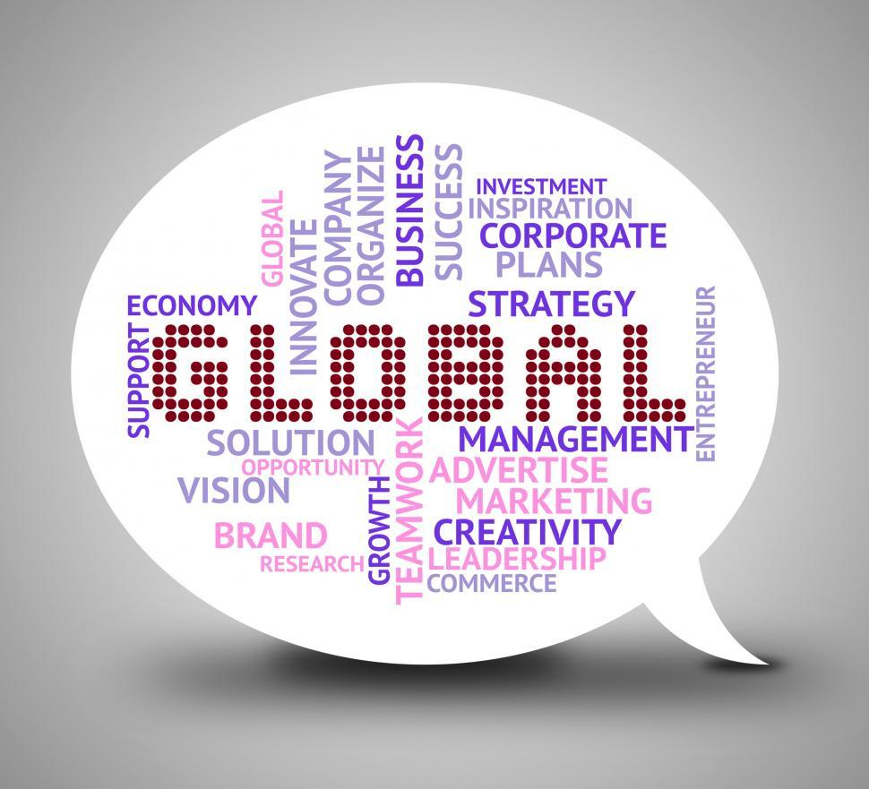Download Free Stock HD Photo of Global Bubble Means World Globalisation 3d Illustration Online