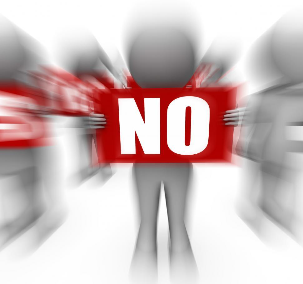 Download Free Stock HD Photo of Characters Holding Yes No Signs Displays Advice And Guidance Online