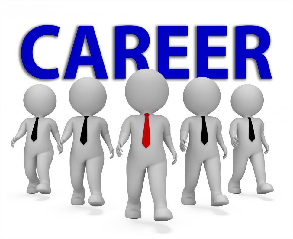 Download Free Stock HD Photo of Career Businessmen Represents Job Search 3d Rendering Online