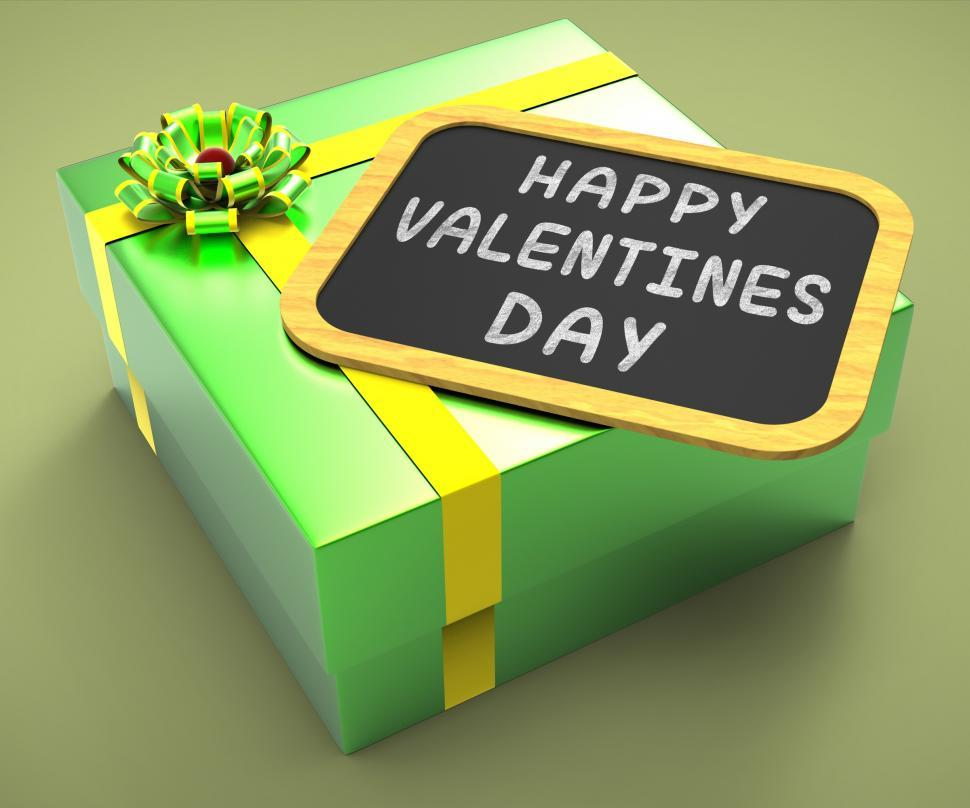 Download Free Stock HD Photo of Happy Valentines Day Present Shows Romantic Celebration Or Valen Online