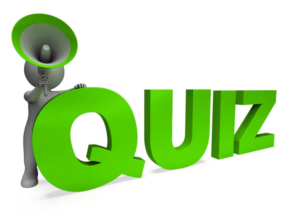 Get Free Stock Photos of Quiz Character Means Test Questions