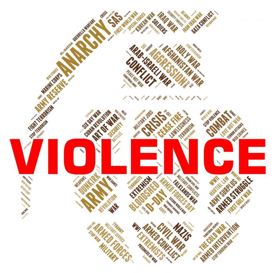 Download Free Stock HD Photo of Violence Word Represents Freedom Fighters And Brutality Online