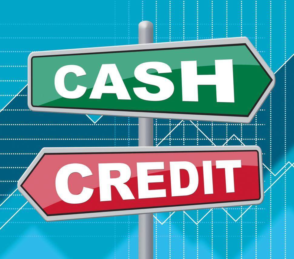 Download Free Stock HD Photo of Cash Credit Signs Means Saving And Owing Online