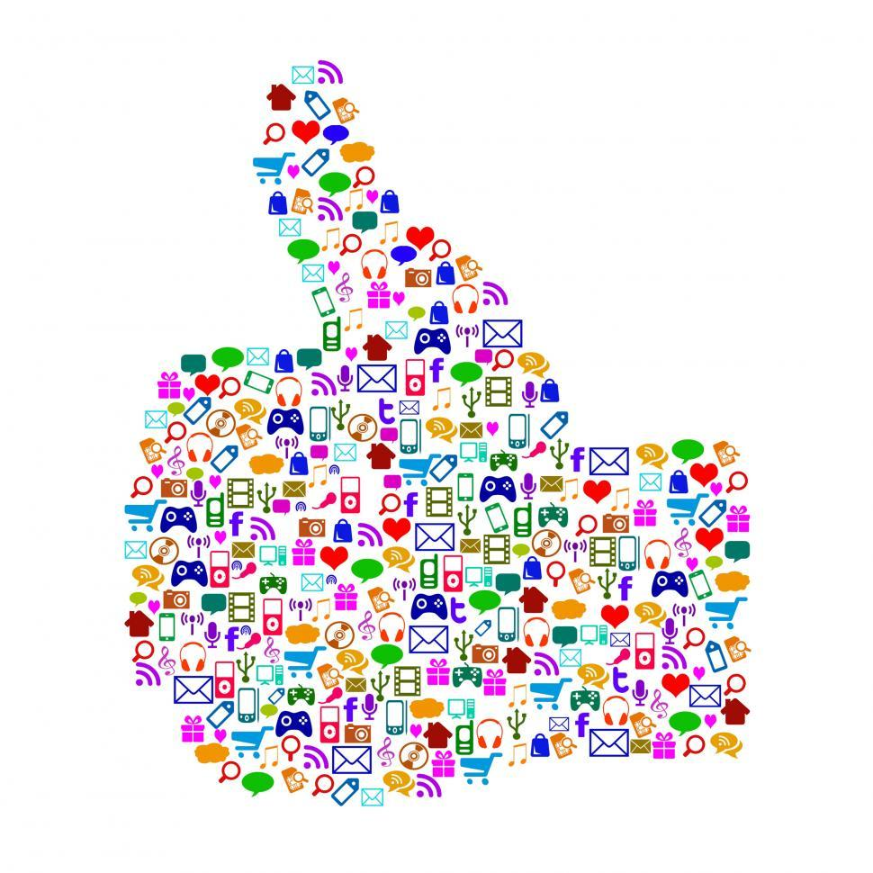Free Stock Photo of Thumbs Up Icons Shows Follow Apps And ...
