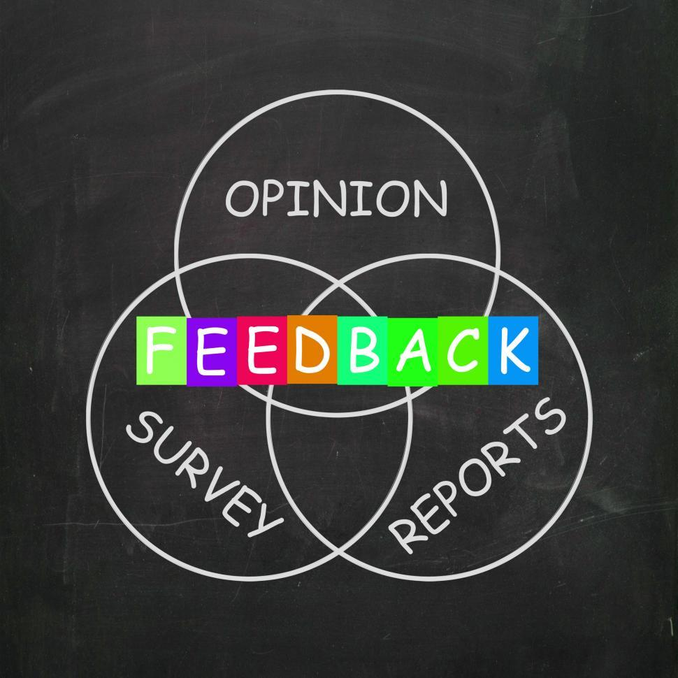 Download Free Stock HD Photo of Feedback Gives Reports and Surveys of Opinions Online