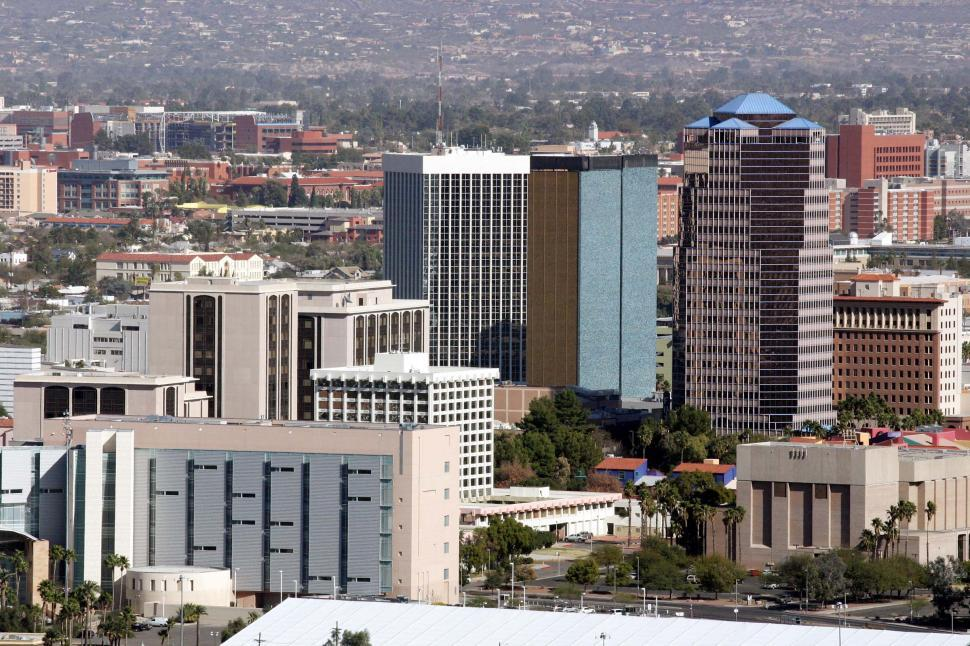 Download Free Stock HD Photo of Buildings in downtown Tucson Arizona Online