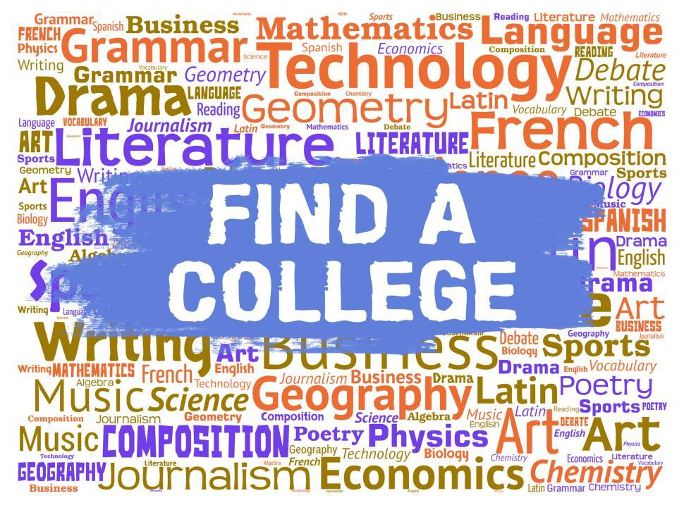 Download Free Stock HD Photo of Find College Means Search Out And Colleges Online