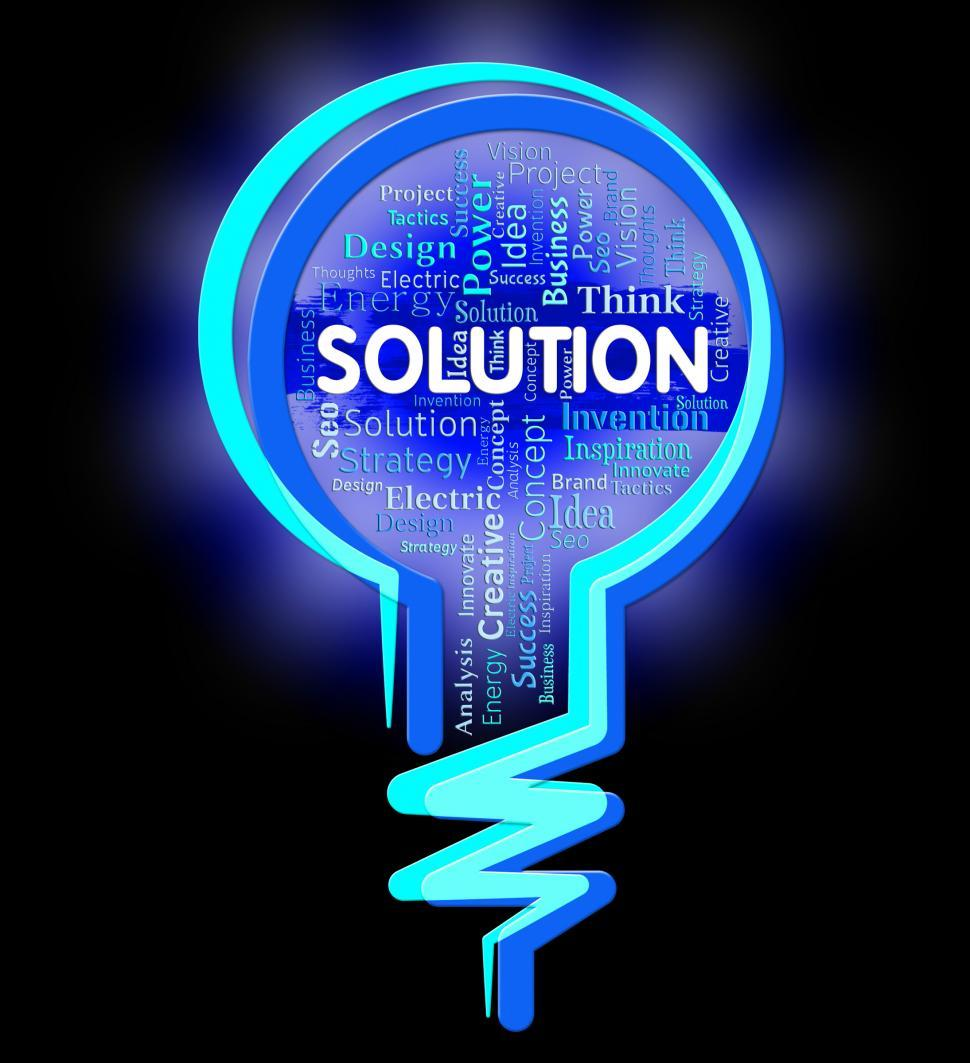 Download Free Stock HD Photo of Solution Lightbulb Indicates Succeed Achievement And Goals Online