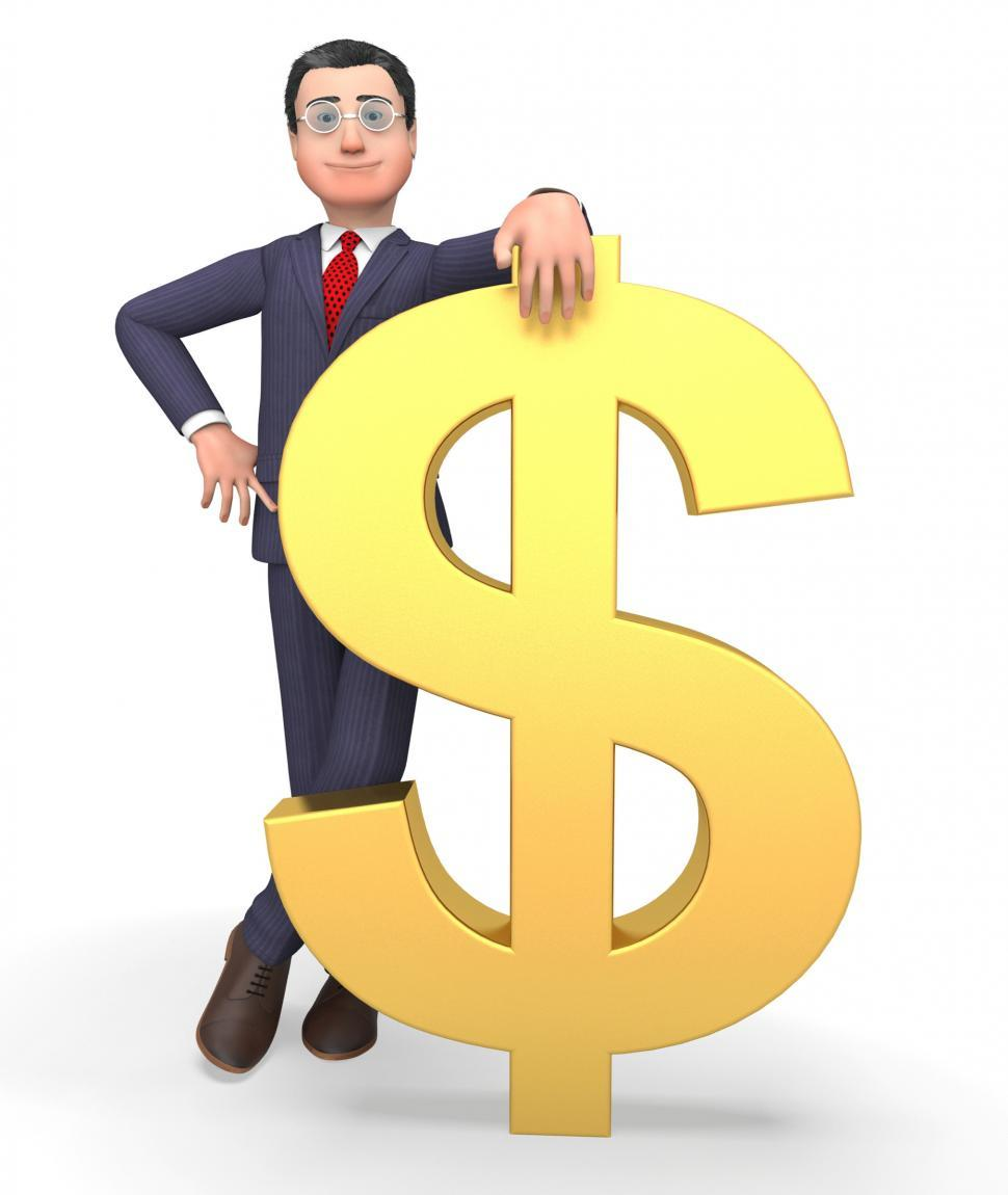 Download Free Stock HD Photo of Money Character Indicates Business Person And Bank 3d Rendering Online