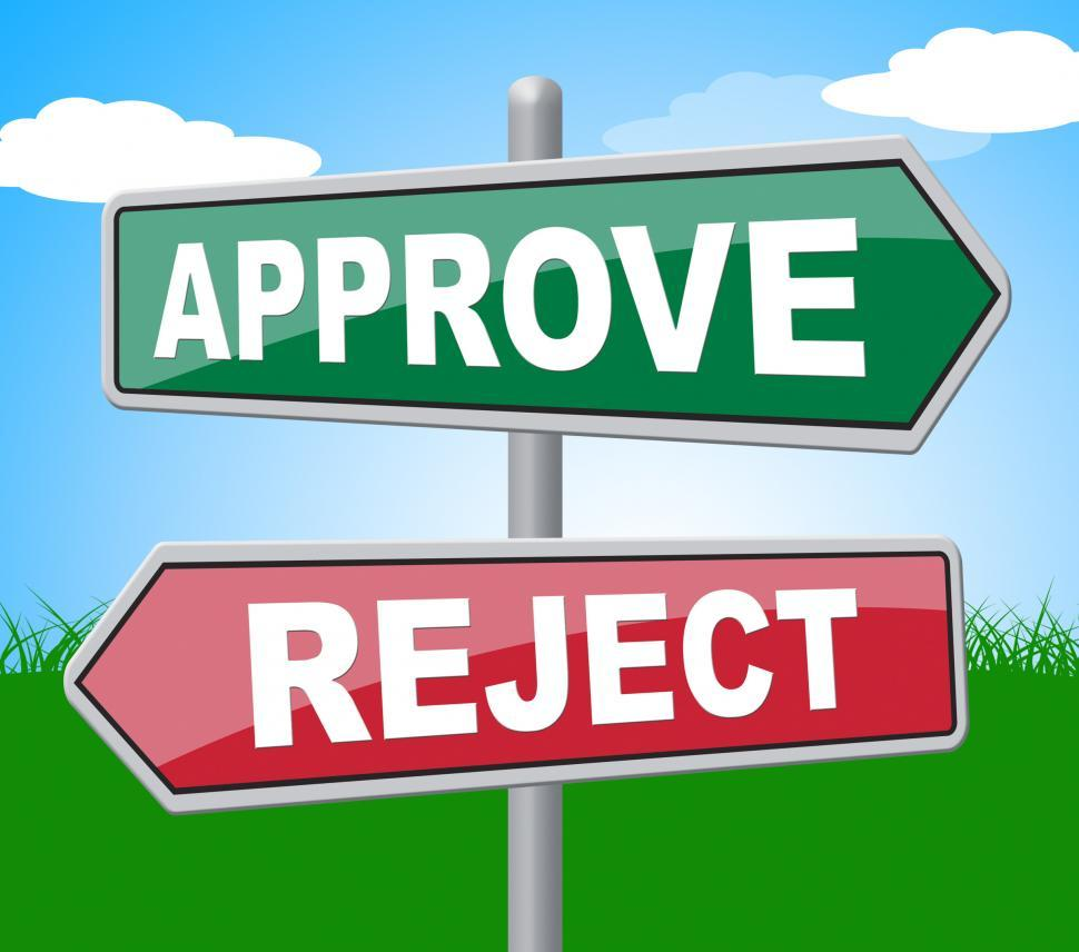 Download Free Stock HD Photo of Approve Reject Represents Signboard Assurance And Refused Online