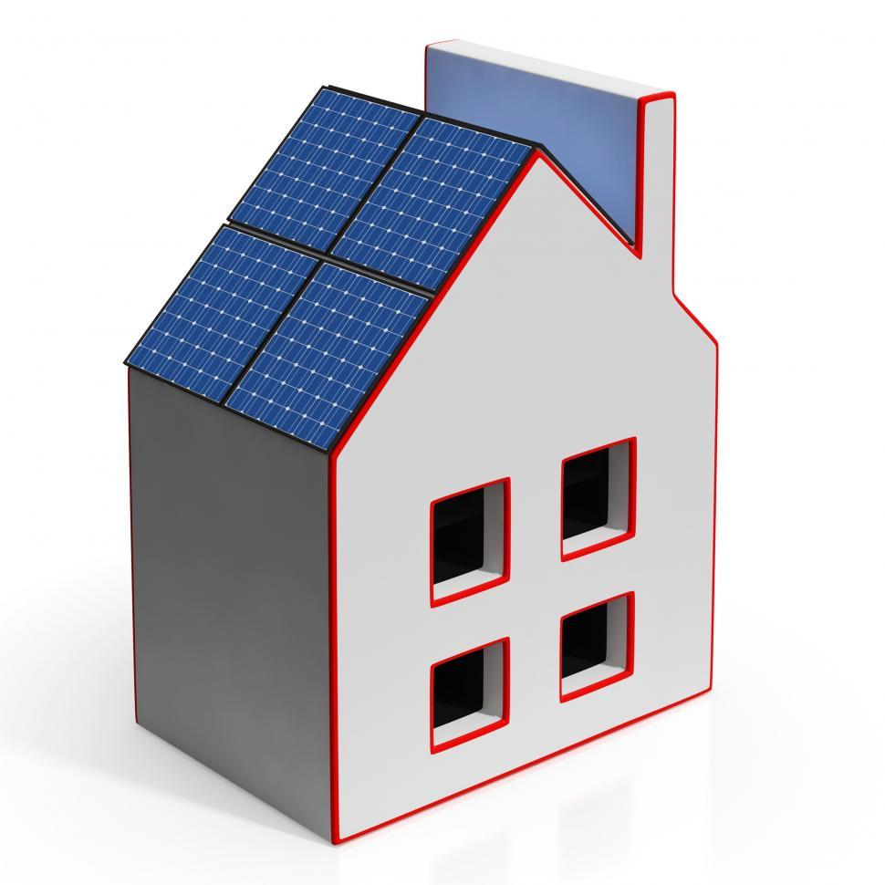 Download Free Stock HD Photo of House With Solar Panels Shows Renewable Energy Online