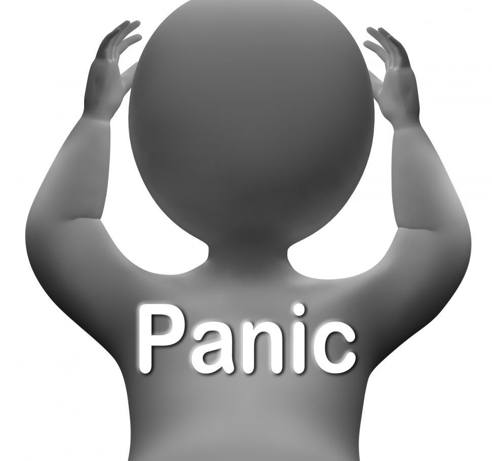 Download Free Stock HD Photo of Panic Character Means Fear Worry And Distress Online