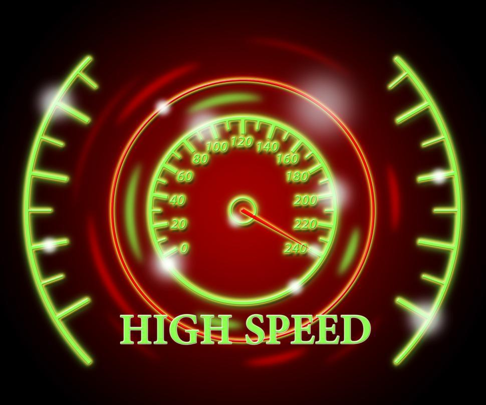 Download Free Stock HD Photo of High Speed Represents Scale Action And Speedometer Online