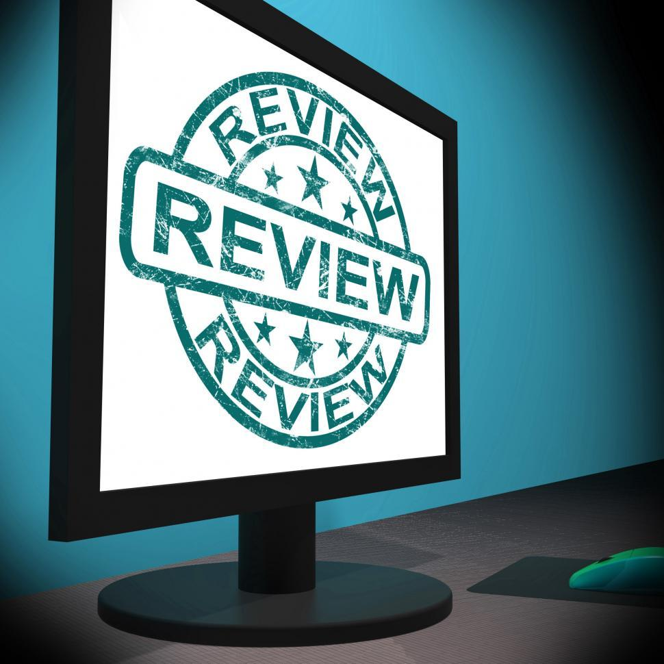 Download Free Stock HD Photo of Review Screen Means Examine Reviewing Or Reassess  Online