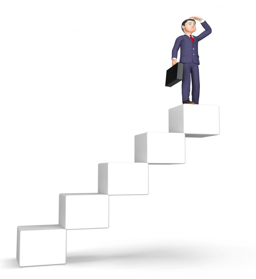 Download Free Stock HD Photo of Success Stairs Means Achievement Succeed And Attainment 3d Rende Online