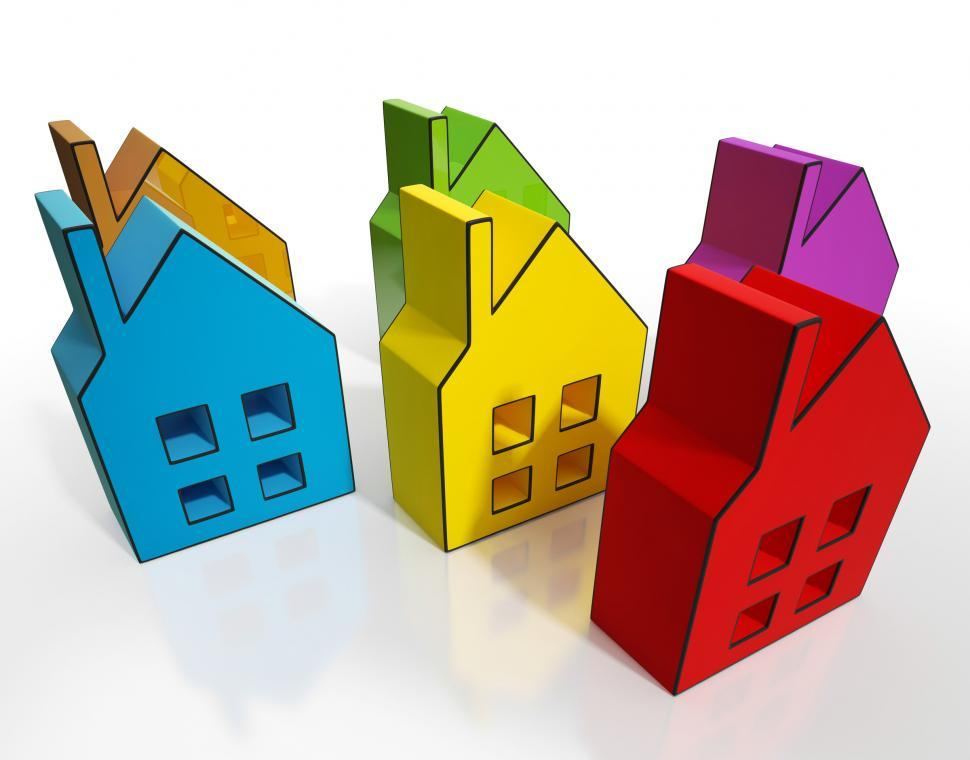 Download Free Stock HD Photo of House Symbols Means Houses For Sale Online