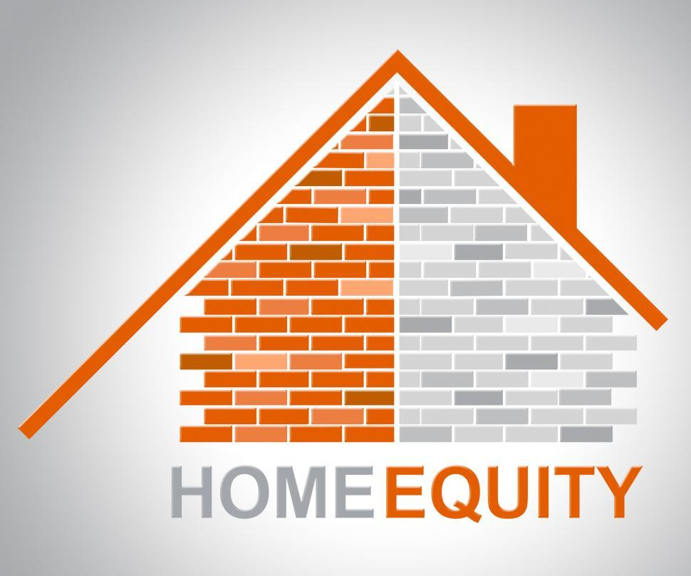 Download Free Stock HD Photo of Home Equity Represents Property Value And Assets Online