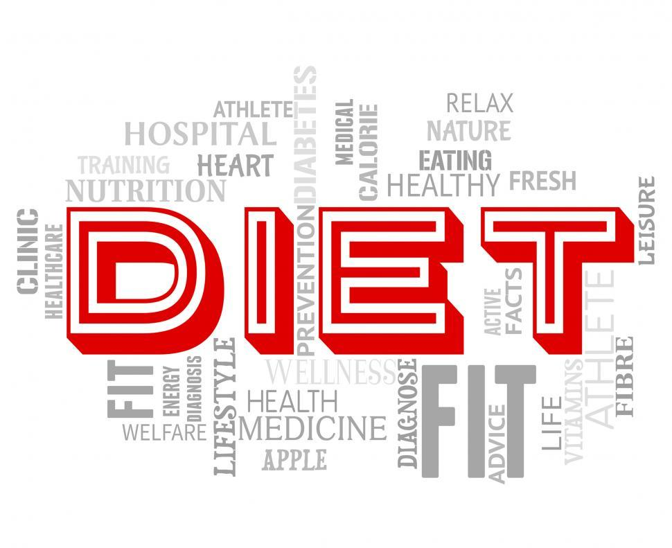 Download Free Stock HD Photo of Diet Words Indicates Lose Weight And Dieting Online