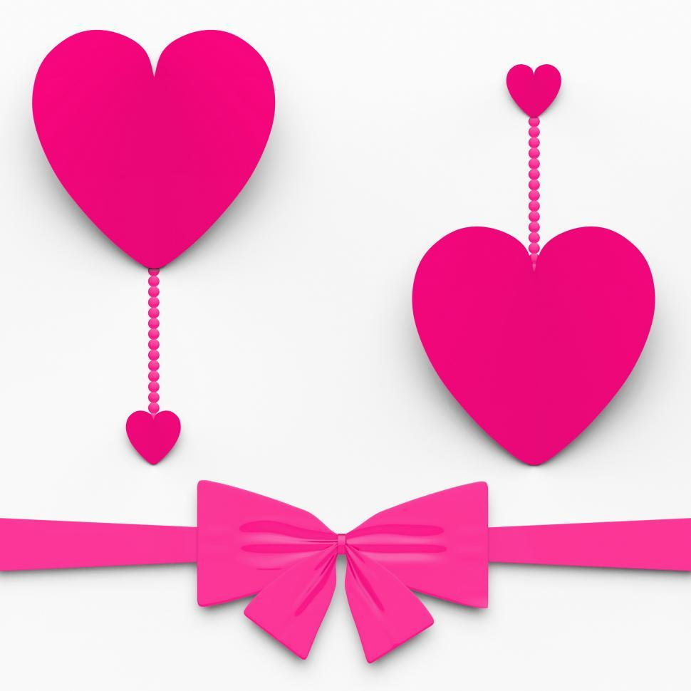 Get Free Stock Photos Of Two Hearts With Bow Show Decorative And
