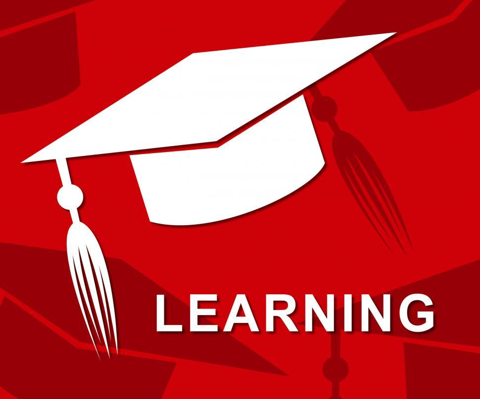Download Free Stock HD Photo of Learning Mortarboard Represents Hat Training And Academic Online