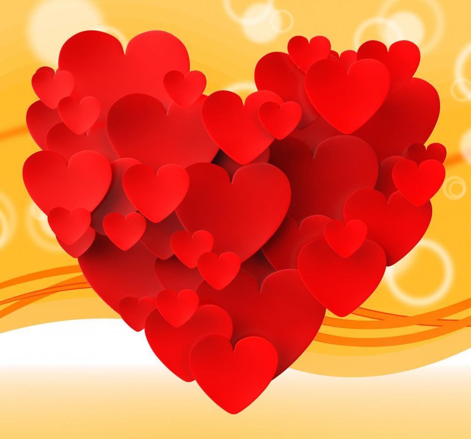 Download Free Stock HD Photo of Heart Made With Hearts Means Romance Passion And Love Online