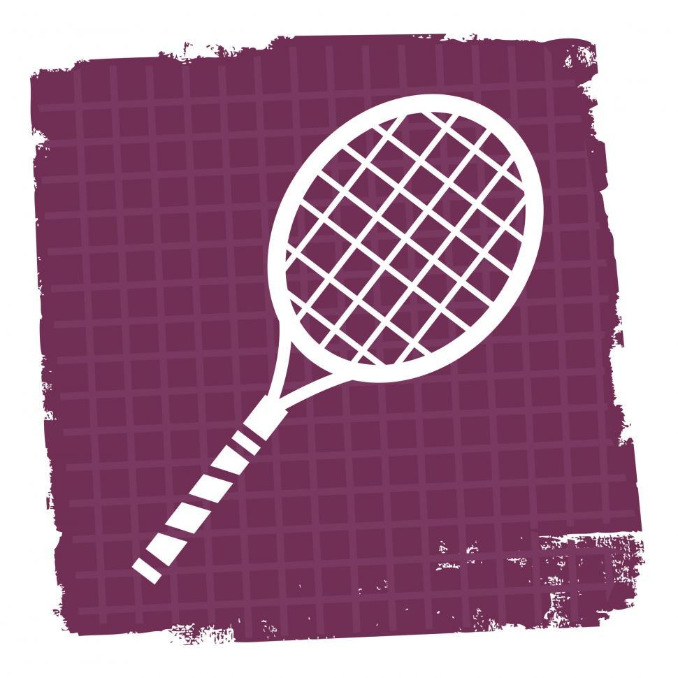 Download Free Stock HD Photo of Tennis Icon Represents Play Sign And Court Online