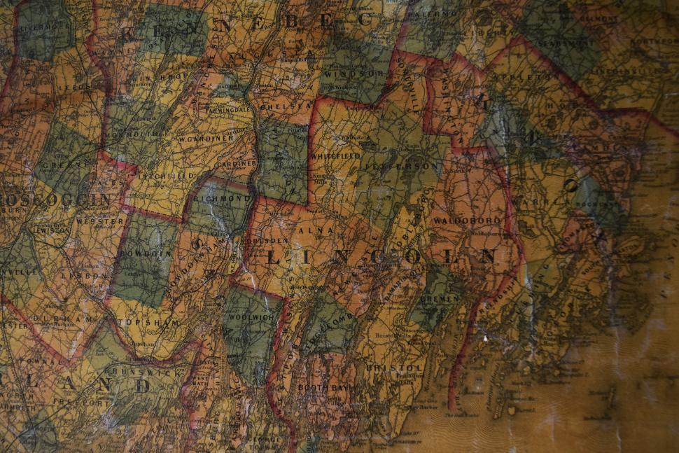 Download Free Stock HD Photo of Old State Map Online