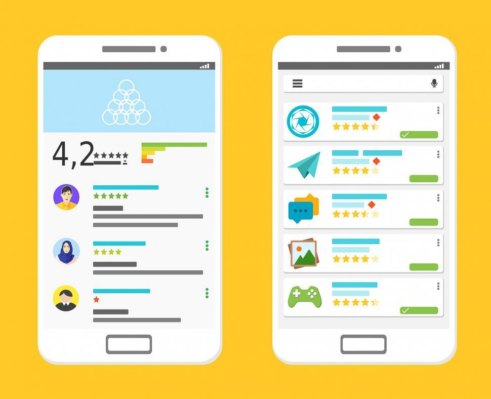 Download Free Stock HD Photo of Mobile ratings layout Online