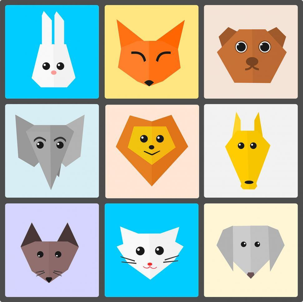 Download Free Stock HD Photo of Flat animal illustrations Online