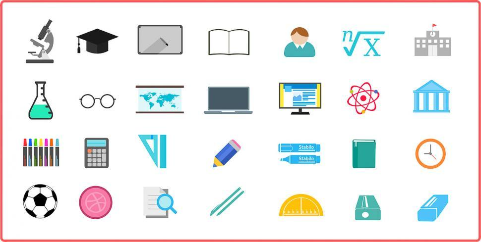 Download Free Stock HD Photo of Icons of business and office Online