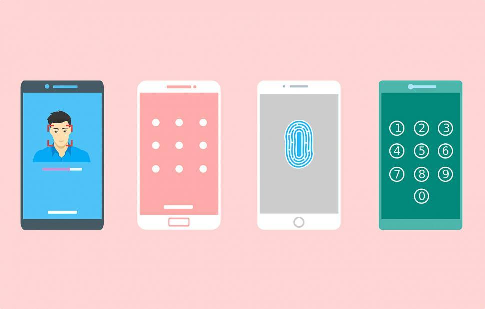 Download Free Stock HD Photo of Biometric identification on cell phones Online