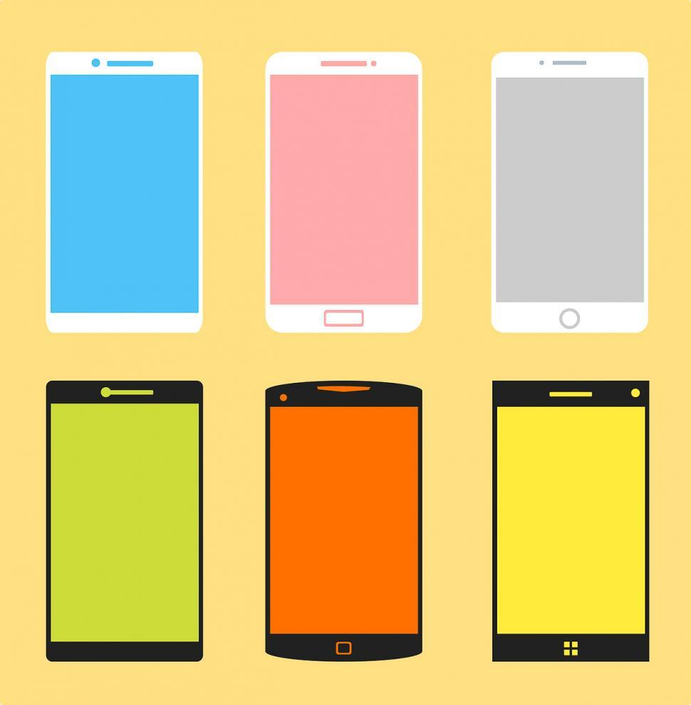 Download Free Stock HD Photo of Many mobile phones Online