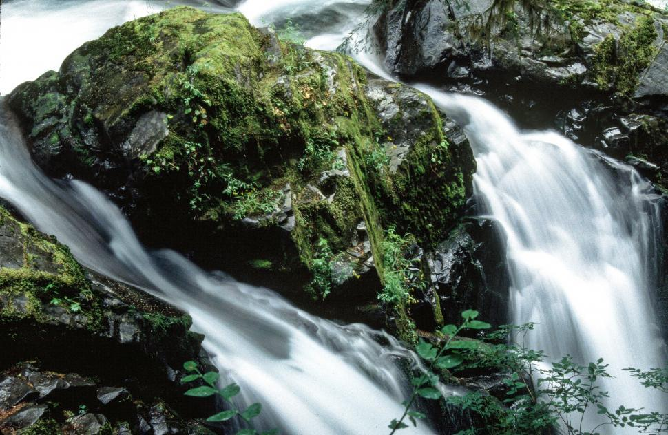 Download Free Stock HD Photo of View of Sol Duc Falls Online